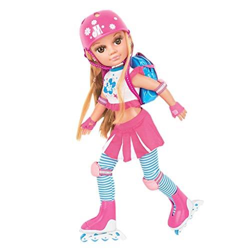 Fenteer 17 Zoll Rollschuh Puppe Ankleidepuppen Mädchen Spielzeug mit Outfits aus Vinyl