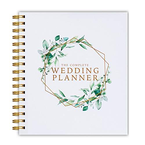[Nouveau] Agenda de mariage motif floral vert – Livre de pla