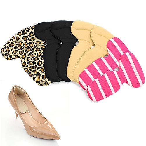 Hrroes Fersenpolster Fersenkissen für zu große Schuhe, High Heels Fersenhalter Silikon Heel Grip Liner Fersenschutz Gel Selbstklebende Schuheinlagen Schuhpads für Blasen und Schmerzen, 4 Paar