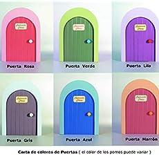 Casita del Ratoncito Pérez, Artesanía puerta en madera y personalizable