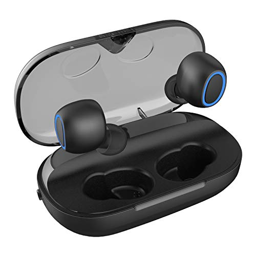 NUATE [2020 Upgrade] True Wireless Earbuds, Bluetooth 5.0,3000mAh with LED Charging Dock 140H Playtime 3D Stereo Sound, Noise Canceling IPX7 Waterproof in-Ear Headphones Built-in Mic for Sports