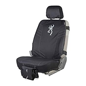 Browning Universal Front and Bench Seat Covers Water Resistant for Car Truck and SUV Black