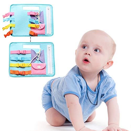 Juguetes educativos tempranos bebé juguetes educación básica de la vida habilidades vestido de enseñanza de la junta de aprendizaje juguetes