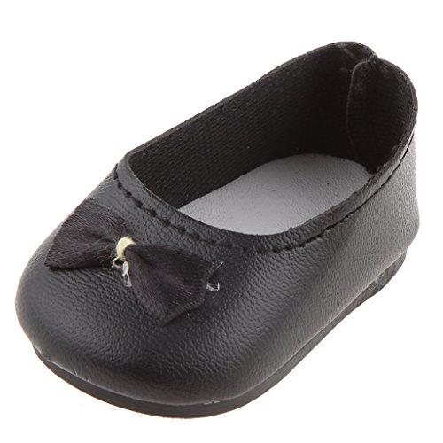 1 Paire Chaussures pour Poupée Fille Américaine 18 inch - Noir