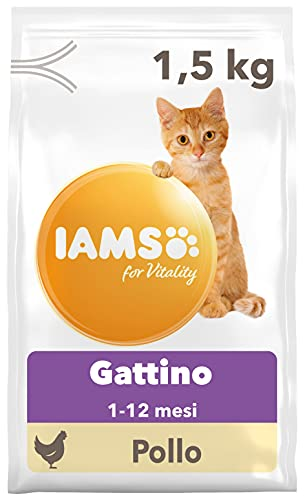 IAMS for Vitality Alimento Secco con Pollo Fresco per Gattini (1-12 Mesi), 1.5 kg