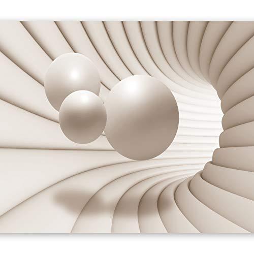 murando - Fototapete 3d Effekt 400x280 cm - Vlies Tapete - Moderne Wanddeko - Design Tapete - Wandtapete - Wand Dekoration - Kugel Abstrakt Tunnel a-A-0154-a-b
