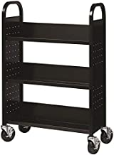 Hirsh Industries Single Sided Book Cart - Black 21789