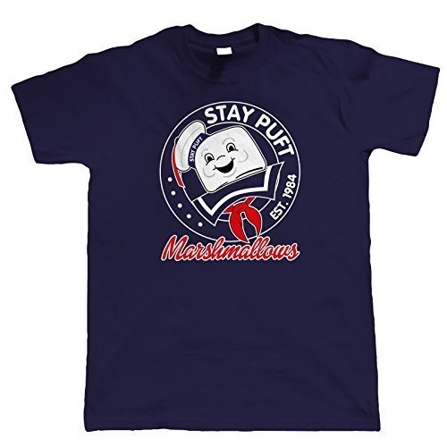 Men's Stay Puft Marshmallows 1984 Navy Blue T-shirt