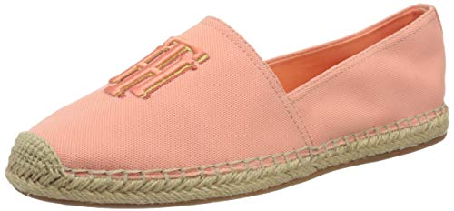 Tommy Hilfiger Damen Nautical TH Basic Espadrille Pumps, Orange (Island Coral Sn7), 38 EU