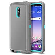 LG Stylo 5 Case, Jelanry Heavy Duty Armor Dual Layer Full Body Protective Shell LG Stylo 5 Phone Case Shockproof Sports Rugged Case Anti-Scratches Non-Slip Hybrid Cover LG Stylo 5 Plus Grey/Sky Blue