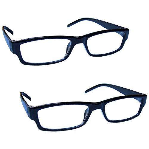 The Reading Glasses Company Gafas De Lectura Negro Ligero Cómodo Lectores Valor Pack 2 Hombres Mujeres Rr32-1 +2,00 2 Unidades 58 g