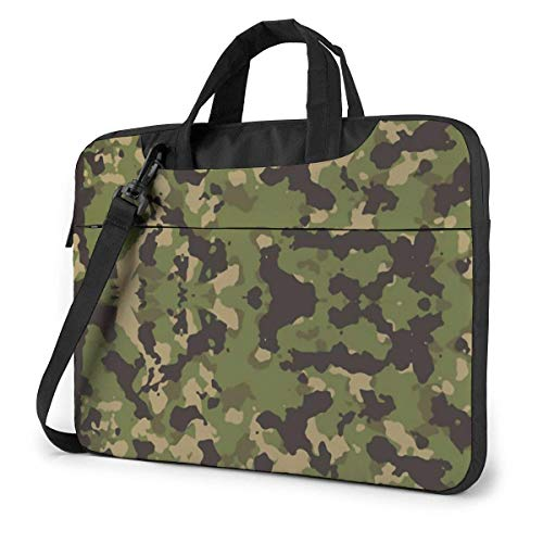 XCNGG Shockproof Laptop Bag Camo Computer Bag Durable Laptop Briefcase Cushion Protective Case Sleeve