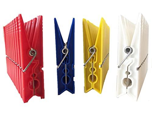 MAQA 40 pz Mollette bucato in plastica, Molette per Panni H 8.6 centimetri, Mollette Colorate