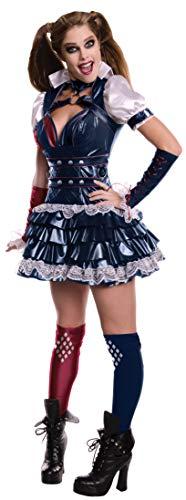 Rubies Costume Officiel d'Harley Quinn, Personnage de la série de Jeux vidéo « Batman Arkham », pour Femme Adulte, signé - Taille S