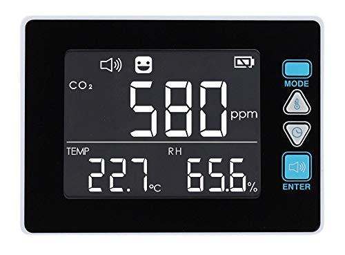 PerfectPrime CO2390, Raumluftqualitätsmessgerät USB CO2 KOHLENDIOXID Lufttemperatur Luftfeuchtigkeit Datenlogger/Thermometer/Hygrometer mit SD-Karte