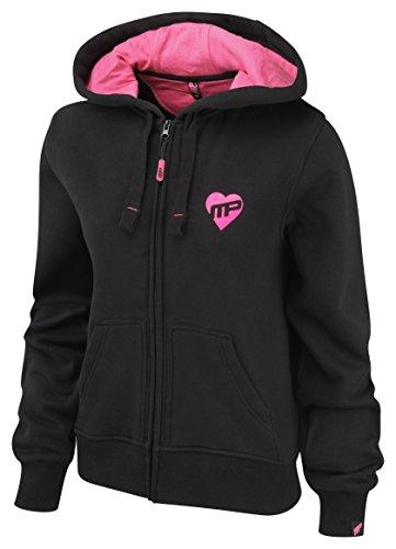 Musclepharm Veste zippée à capuche pour femme, noir