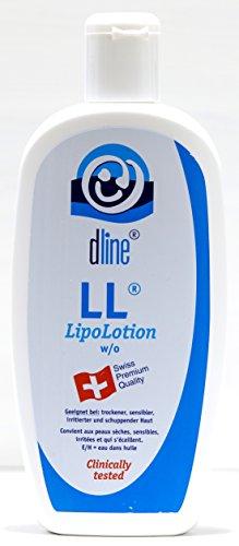 dline LL-LipoLotion 500ml, hochwertige Feuchtigkeitslotion für trockene sensible irritierte schuppende Haut, w/o, Lipide 30%, Flasche (1 x 500 ml)