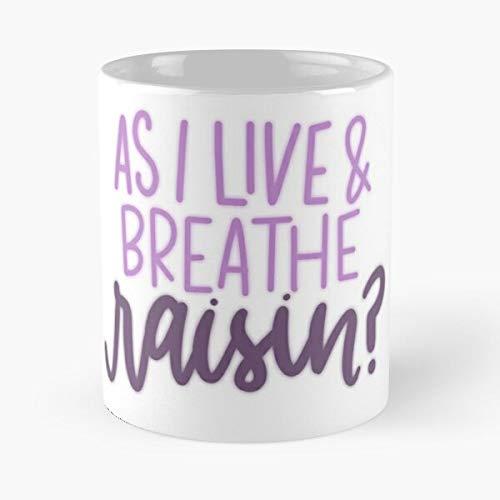New Girl Winston Quote Raisin - Taza de cerámica de mármol, color blanco