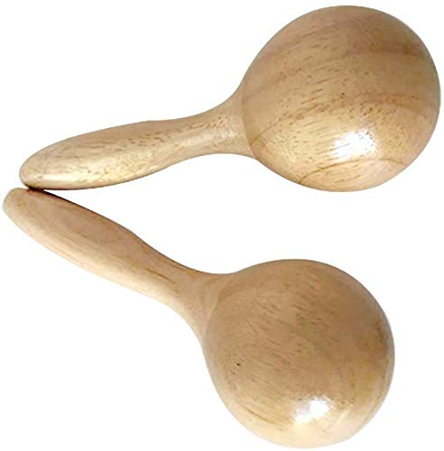 Purchase Wooden Maracas Wood Color Mini Size for Kids Game 2 piece