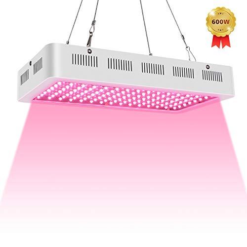 LED Pflanzenlampe,Roleadro 600W Vollspektrum Pflanzenlicht 120 Stück 5 Watt LEDs für Innen Hydroponik Set Gewächshaus Keimung Veg Grow LED Lampe