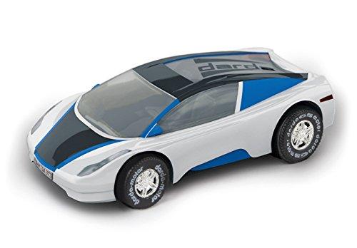 Darda 50368 Auto DCR 1 Fahrzeug, weiß/blau/schwarz