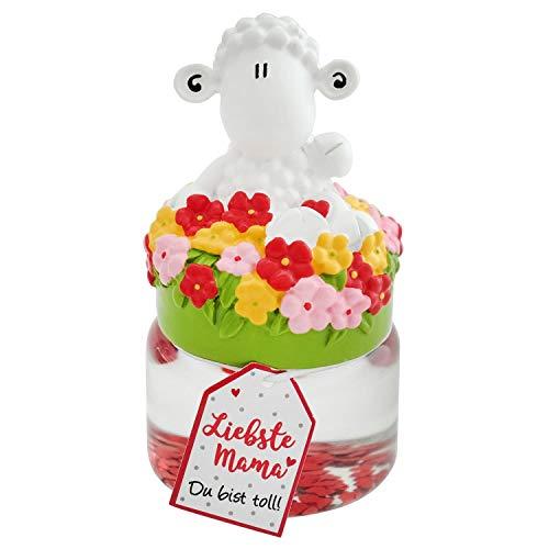 Die Geschenkewelt Sheepworld 45617 Traumkugel Liebste Mama, mit Blumen und Sheepworld Schaf