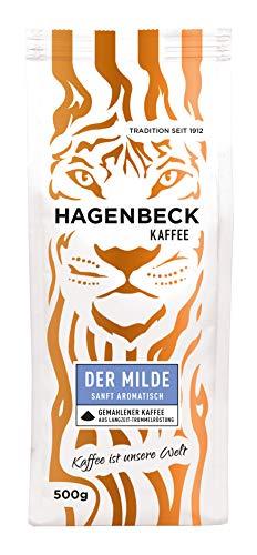 Hagenbeck - Kaffee - Der Milde - Röstkaffee - Kaffeebohnen gemahlen - 500g - 100% Arabica - Mild - Säurearm - Ausgewogenes Aroma