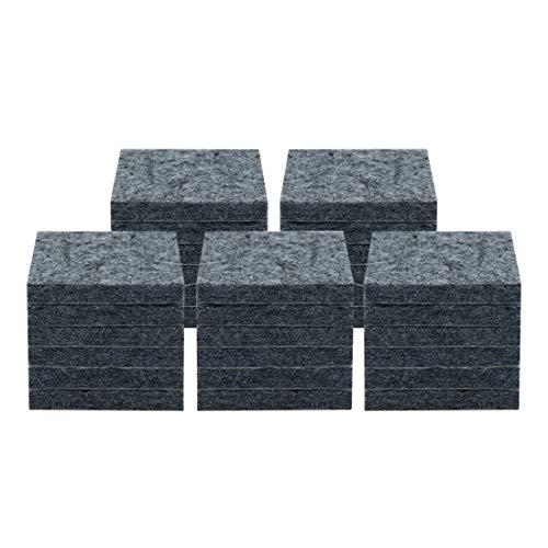 Uxcell 30 almohadillas de fieltro antideslizantes para muebles, cuadradas, de 1 3/4 pulgadas, antideslizantes, antiarañazos, para el suelo, color gris