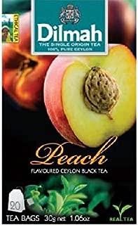 Dilmah Peach 20 Tea Bags [ Buy 5 Get 1 Free ] (Peach)
