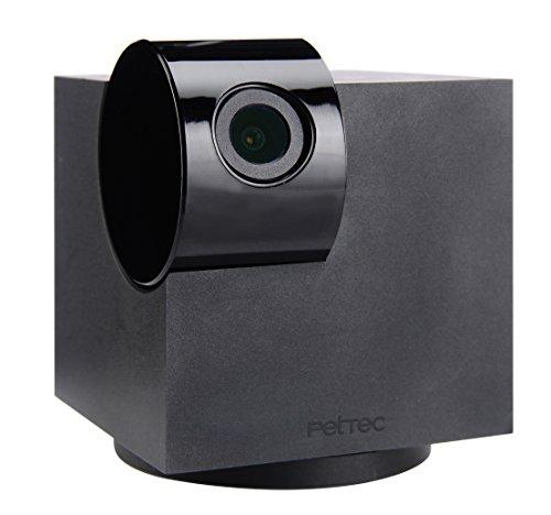 PetTec Cam 360° Überwachungskamera | Full HD | WLAN Kamera mit Nachtsicht für Zuhause | Haustierkamera mit App | Pet Camera mit Bewegungs- & Geräuscherkennung für Hunde & Katzen| Streaming Webcam