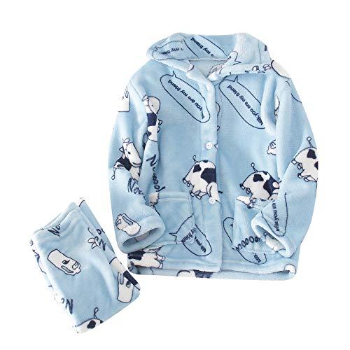cover Pyjama für Kinder Mädchen Jungen, Schlafanzug Schlafanzughose aus Frottee...