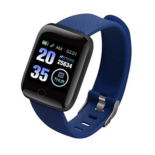 DOOK Smartwatch, Relojes Inteligentes Impermeable IP68 para Mujer Hombre niños,con Monitor de Frecuencia Cardíaca/Sueño/Calorías/Pasos, Pantalla Inteligente de 1.3'para iOS Android,Azul