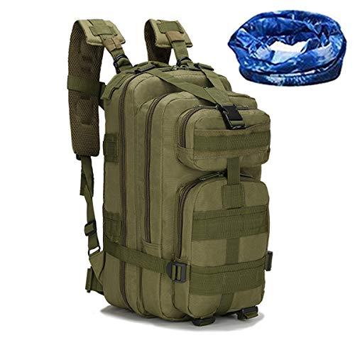 Haoyk - Zaino militare tattico, per sport all'aperto, escursionismo, trekking, campeggio, viaggi, alpinismo, motivo mimetico, 25 l, OD Green