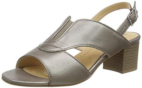 Van Dal Damen Ditton Peeptoe Sandalen, Gold Metal 920, 39.5 EU