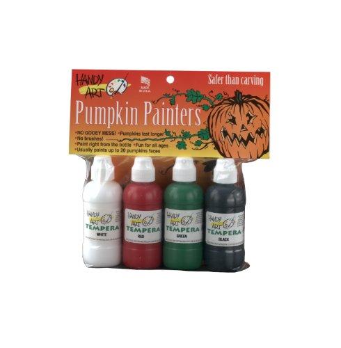 Handy Art 4 color - 2 ounce Tempera Pumpkin Painters Kit, 4 color assorted set(...