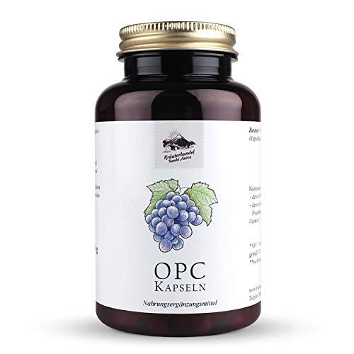 Kräuterhandel Sankt Anton - OPC Traubenkernextrakt Kapseln - 120 Kapseln - mit Vitamin C - hochdosiert - kaltgepresst - Deutsche Premium Qualität