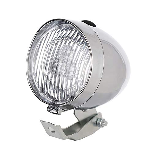 Frieed Impermeable Frente de la Bicicleta Retro luz Cabeza de la Bici de Las Luces LED de Seguridad Mini MTB Advertencia montaña Casco de Ciclista Accesorios Linterna Durable (Color : Silver)