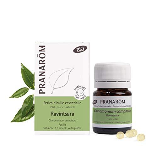 Pranarôm   Perles d'Huile Essentielle Ravintsara Bio   Cinnamomum camphora   Feuille   HECT   60 Perles