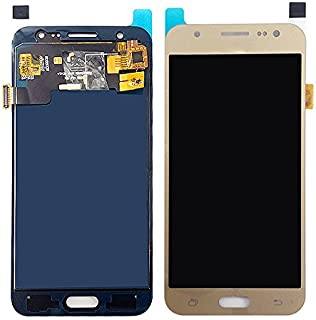 Skyline for Samsung Galaxy J5 2015 J500 J500F SM-J500F LCD Display Touch Screen Digitizer Assembly Replacement for Samsung J5 2015 LCD with Brightness Adjustment (Gold, 2015)