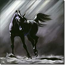 Shadow Dancer by Kim McElroy - Equine Horse Art Ceramic Accent Tile 8