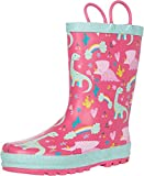 Western Chief Kids Girl's Dazzle Dinos Rain Boots (Toddler/Little Kid) Pink 13 Little Kid M