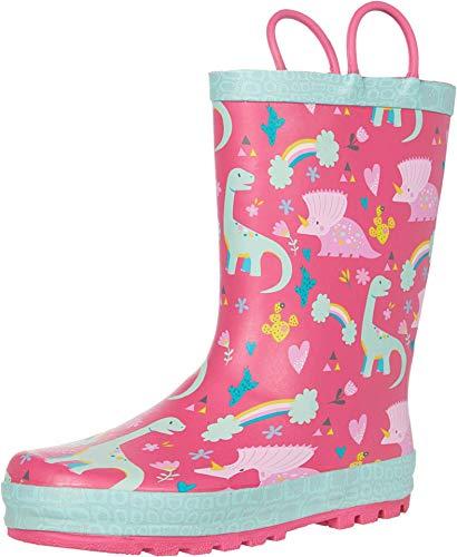 Western Chief Kids Girl's Dazzle Dinos Rain Boots (Toddler/Little Kid) Pink 1 Little Kid M
