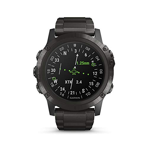 Garmin D2 Delta PX, GPS Pilot Watch with Pulse Ox Sensor, Includes Smartwatch Features, Heart Rate and Music, Titanium with Titanium Band