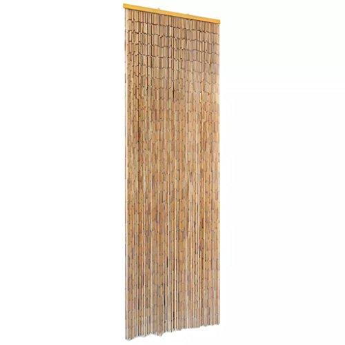vidaXL Cortina para Puerta de Tiras de Bambú contra Insectos Marrón 56x185 cm