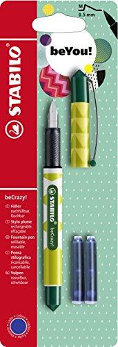 Füller - STABILO beCrazy! FRUITS - Ananas - Einzelstift - inklusive 3 Patronen