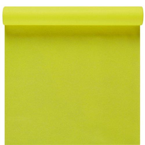 Susy Card 11236064 Chemin de table en tissu à couche appliquée par jet d'air Vert kiwi 3 m x 40 cm
