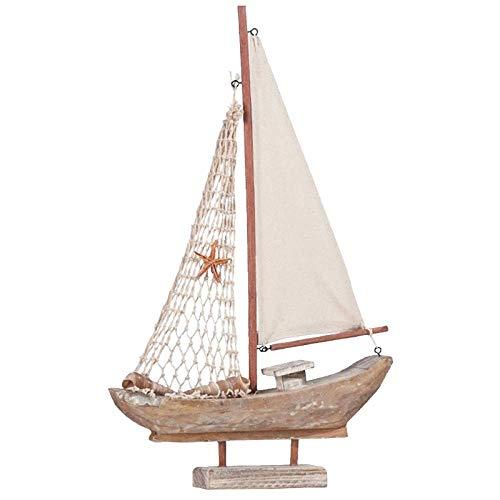 tuin buitenshuis beelden ontwerp kunst inrichting mediterraan retro zeilen houten boten model ornament kunst huis sculpturen ambachten