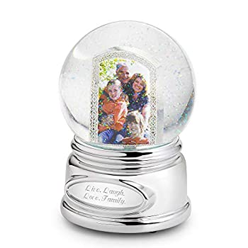 THINGS REMEMBERED Personalized Picture Perfect Musical Photo Snow Globe  Free Engraving