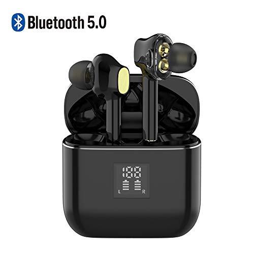 Braveking1 Auriculares Bluetooth In-Ear Auricular Inalámbricos Deportivos Bluetooth 5.0 Impermeable Reducción de Ruido Sonido Estéreo Mic Cascos Deporte con 800mAh Caja de Carga para iOS Android