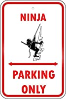 126新しいブリキのサイン忍者駐車場のみアルミニウム金属道路標識壁の装飾8x12インチ